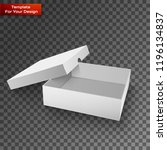 white product package box | Shutterstock .eps vector #1196134837