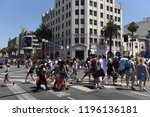 hollywood   august 7  2018 ... | Shutterstock . vector #1196136181