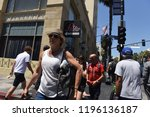 hollywood   august 7  2018 ... | Shutterstock . vector #1196136187