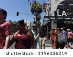 hollywood   august 7  2018 ... | Shutterstock . vector #1196136214