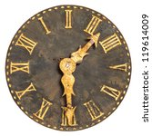 Ancient Large Church Clock Fac...