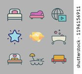 relax icon set. vector set... | Shutterstock .eps vector #1196156911