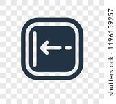 left arrow vector icon isolated ... | Shutterstock .eps vector #1196159257