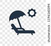 sunbed vector icon isolated on... | Shutterstock .eps vector #1196160394