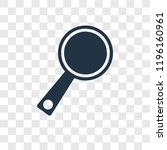 loupe vector icon isolated on... | Shutterstock .eps vector #1196160961
