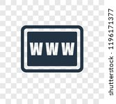 www vector icon isolated on... | Shutterstock .eps vector #1196171377