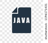 java vector icon isolated on... | Shutterstock .eps vector #1196171431