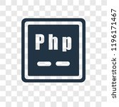 php vector icon isolated on... | Shutterstock .eps vector #1196171467