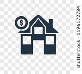 mortgage vector icon isolated... | Shutterstock .eps vector #1196172784