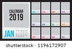 calendar 2019. colorful set.... | Shutterstock .eps vector #1196172907