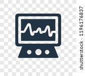 electrocardiogram vector icon... | Shutterstock .eps vector #1196176837