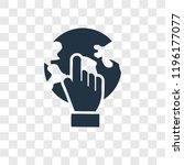 pay per click vector icon... | Shutterstock .eps vector #1196177077