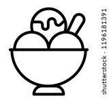 frozert dessert  gelato ice... | Shutterstock .eps vector #1196181391