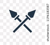 spear vector icon isolated on... | Shutterstock .eps vector #1196183587