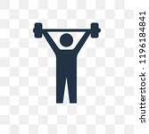 lifting barbell vector icon... | Shutterstock .eps vector #1196184841