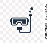 snorkel vector icon isolated on ... | Shutterstock .eps vector #1196185657