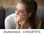 close up portrait of sad woman...   Shutterstock . vector #1196187571