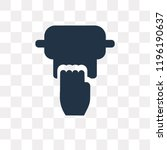tissue vector icon isolated on... | Shutterstock .eps vector #1196190637