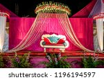 indian wedding stage.indian... | Shutterstock . vector #1196194597