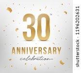 30th anniversary celebration... | Shutterstock .eps vector #1196202631