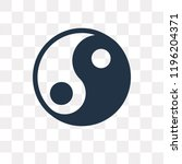 yin yang vector icon isolated... | Shutterstock .eps vector #1196204371