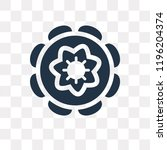 chakra vector icon isolated on... | Shutterstock .eps vector #1196204374