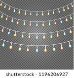 christmas lights isolated... | Shutterstock .eps vector #1196206927