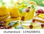 lemon grape star apple fruit... | Shutterstock . vector #1196208451
