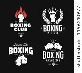 boxing club labels emblems... | Shutterstock .eps vector #1196210977