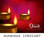 diwali shiny background with... | Shutterstock .eps vector #1196211607