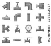 vector illustration of pipe and ...   Shutterstock .eps vector #1196215387