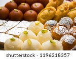 indian sweets in a plate... | Shutterstock . vector #1196218357