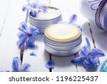 skin care product samples and... | Shutterstock . vector #1196225437