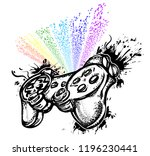 pc and console game tattoo art. ...   Shutterstock .eps vector #1196230441