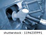 fuel pump nozzle or bowser... | Shutterstock . vector #1196235991