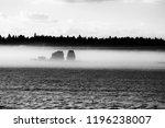 Winterfield In Fog  Gotland ...