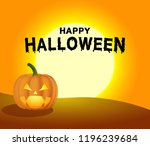halloween pumpkin under the... | Shutterstock .eps vector #1196239684