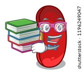 student with book red beans... | Shutterstock .eps vector #1196249047