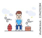 happy boy vector illustration....