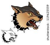 aggressive dog   Shutterstock .eps vector #119625559