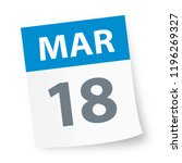 march 18   calendar icon  ... | Shutterstock .eps vector #1196269327