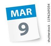 march 9   calendar icon  ... | Shutterstock .eps vector #1196269354