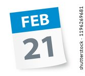 february 21   calendar icon  ... | Shutterstock .eps vector #1196269681
