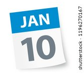 january 10   calendar icon  ... | Shutterstock .eps vector #1196270167