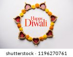 happy diwali greeting card made ... | Shutterstock . vector #1196270761
