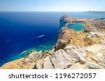 view on st paul's bay in lindos ... | Shutterstock . vector #1196272057