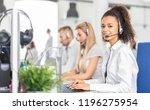 call center worker accompanied... | Shutterstock . vector #1196275954
