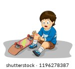 illustration of a kid boy... | Shutterstock .eps vector #1196278387