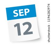 september 12   calendar icon  ... | Shutterstock .eps vector #1196282974