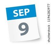 september 9   calendar icon  ... | Shutterstock .eps vector #1196282977